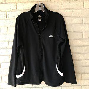 EUC Adidas Black Zip Front Jacket - Women's XL